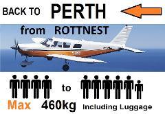[◄] Rottnest to Perth (Jandakot) - 4 to 6 passengers - Flexible Times
