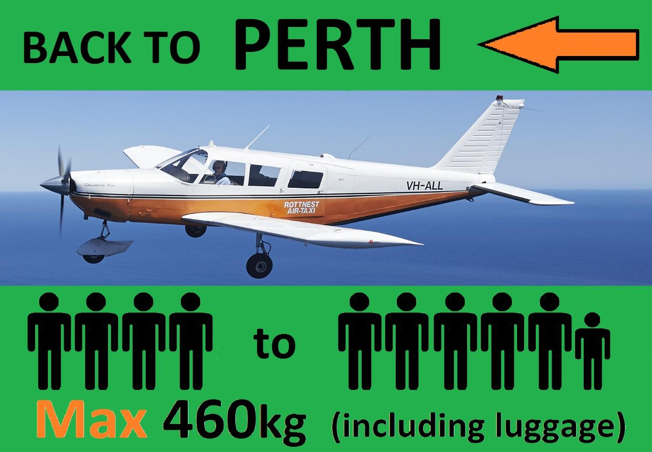 « Rottnest to Perth - 4 to 6 passengers.