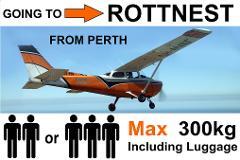 ► Perth (Jandakot) to Rottnest - Up to 3 Passengers - Flexible Times