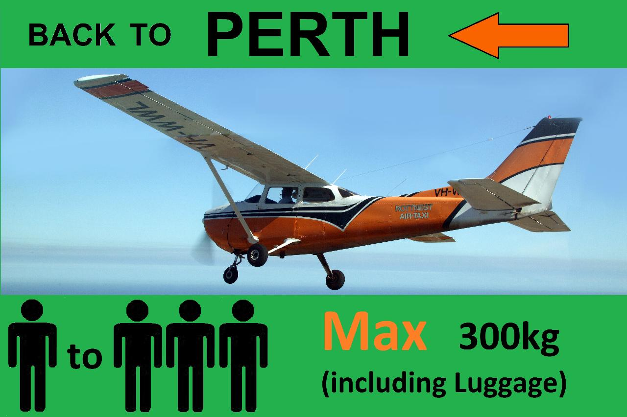 ‹ Rottnest to Perth - Up to 3 passengers.