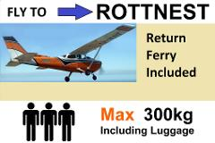 ► Fly and Ferry Combination - Up to 3 Passengers