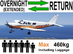 Extended Return Flights Perth to Rottnest, 4 to 6 passengers