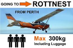 Perth (Jandakot) to Rottnest, up to 3 passengers