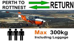 ► Perth to Rottnest AND Return, up to 3 passengers - Flexible Times.