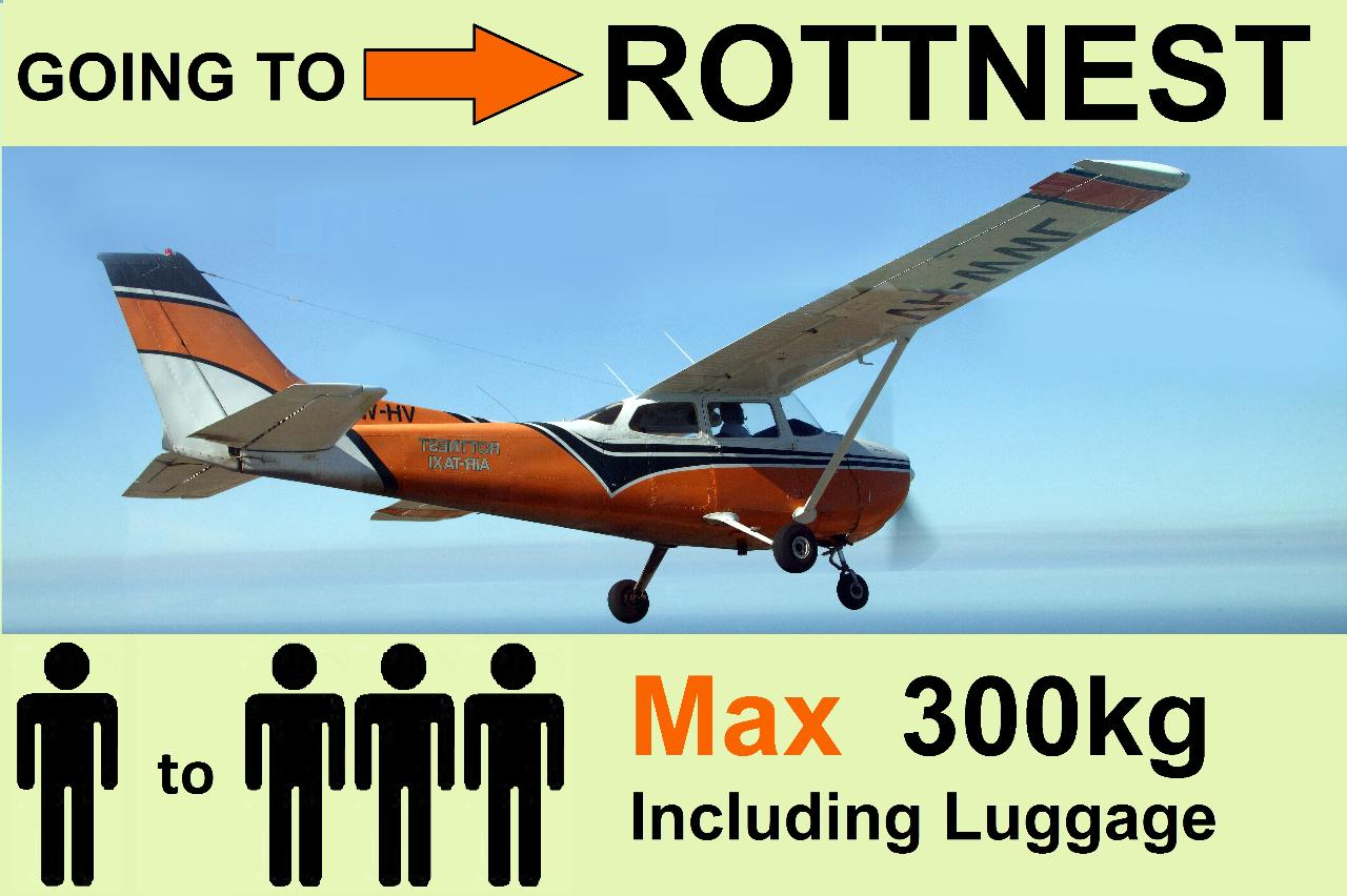 › Perth to Rottnest - Up to 3 Passengers - Flexible Times