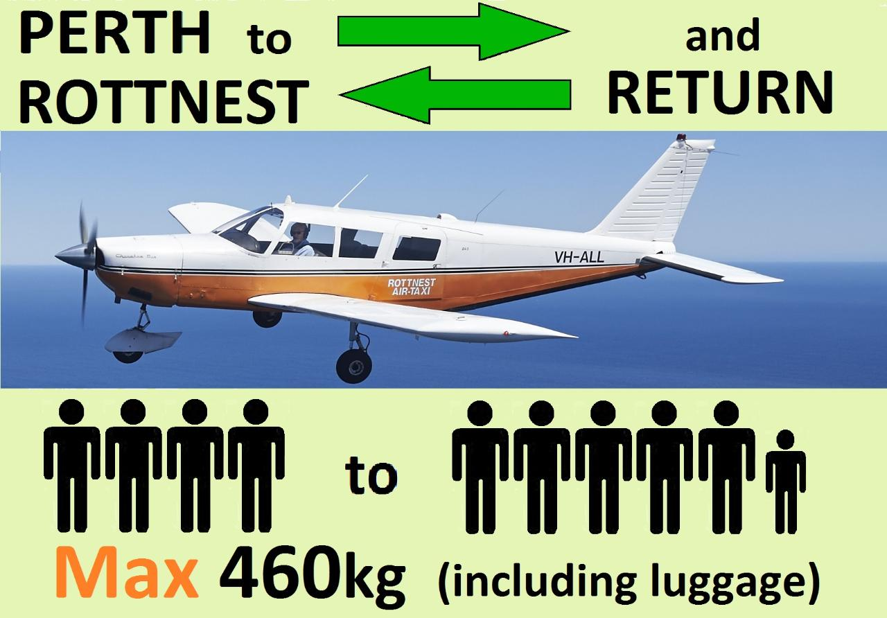 » Perth to Rottnest AND RETURN, 4 to 6 passengers.