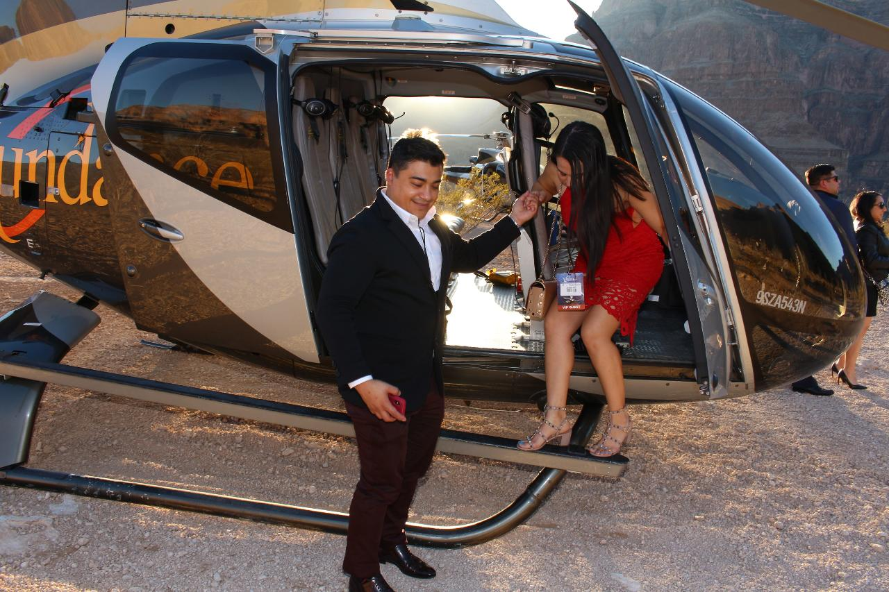 The Grand Canyon Helicopter Value Ceremony