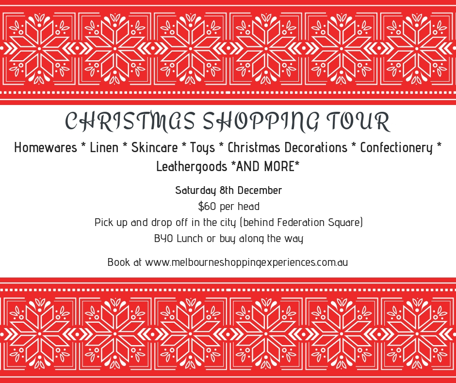 Christmas Shopping Tour