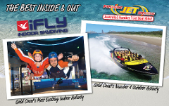 Jetboat Express 30 mins & iFLY indoor Skydive - Live