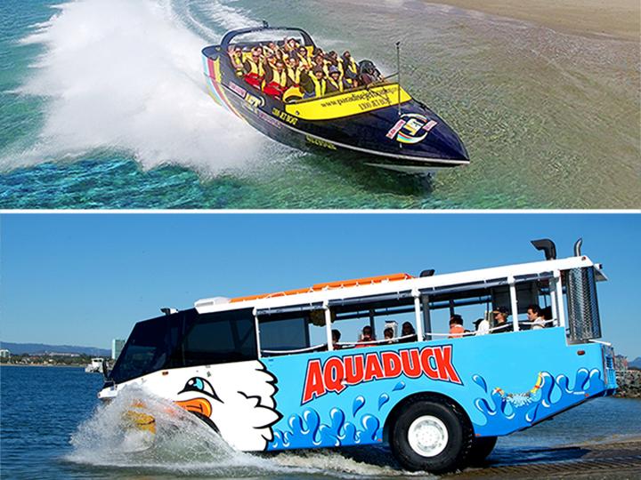 Jet Boat Express 30mins & Aquaduck Safari