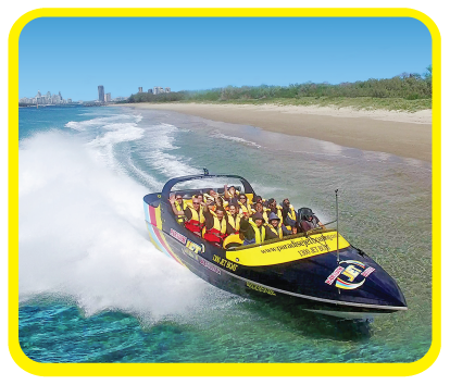 Jet Boat Gold Coast Waterways with Paradise Jet Boating