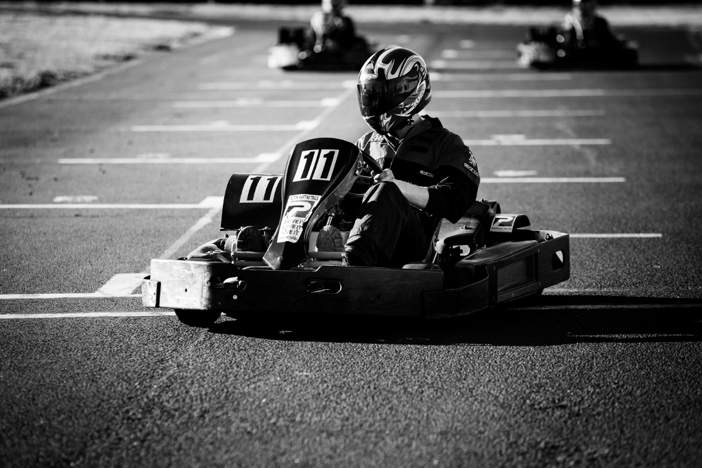 Outdoor Go Karting – 2 x10 minute sessions from 14 yrs to Adults