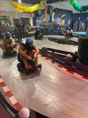 Razor Drifting Carts and Glow in the Dark Nerf Gun Arena