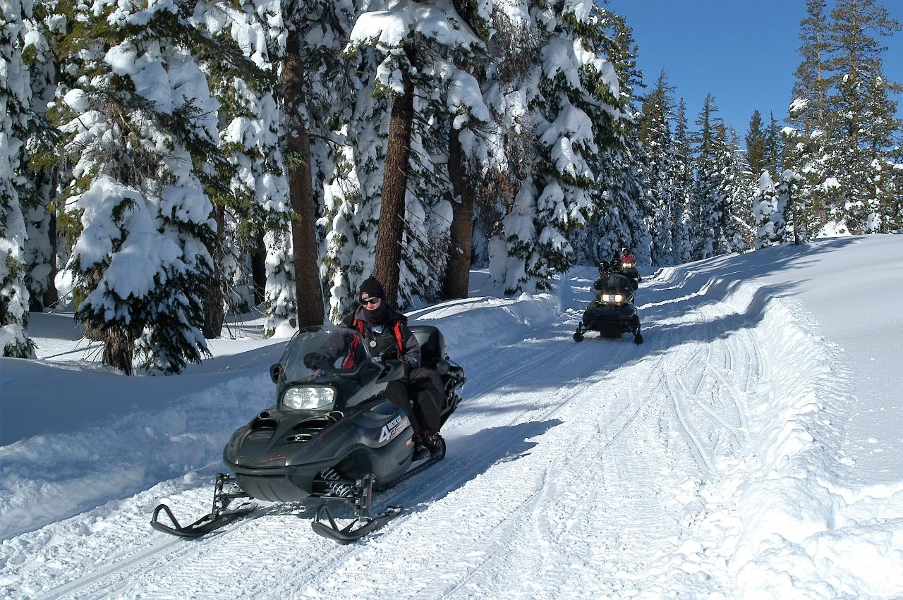 Lake Tahoe Snowmobiling Adventure
