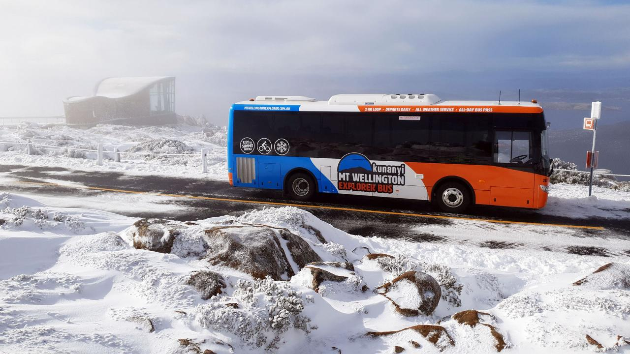 kunanyi/MT WELLINGTON EXPLORER BUS: CITY TO SNOW-RETURN TO CITY