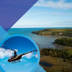 MARITIME SPLENDOURS OF RIMOUSKI (25-min helicopter tour)