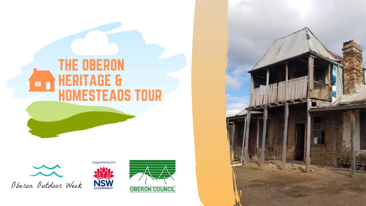 Heritage Homesteads Tour Oberon Outdoor Week 2019