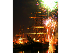 Tall Ship James Craig: Fireworks Sail
