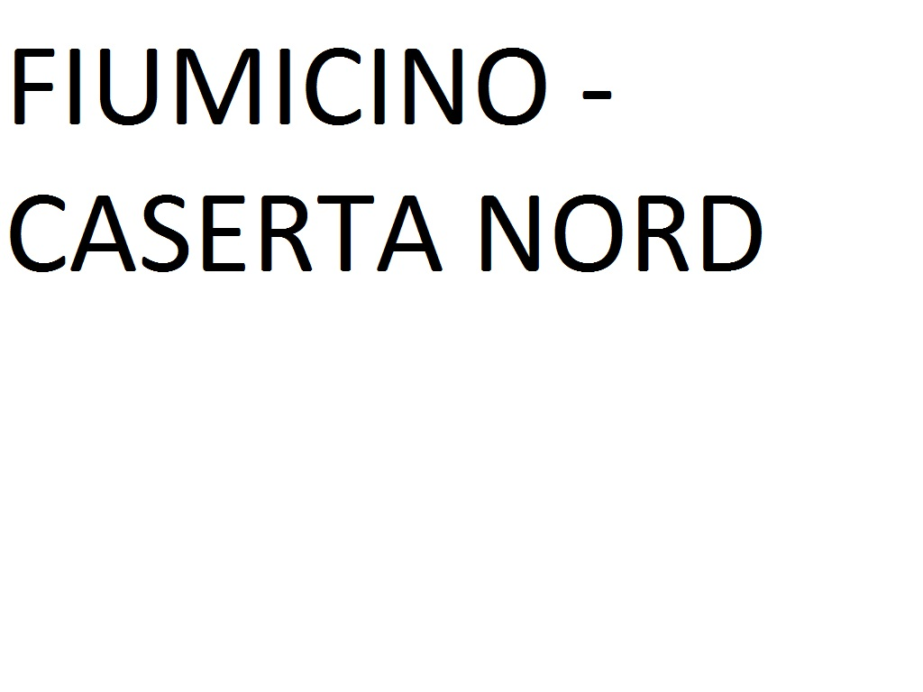 FIUMICINO AIRPORT (T3 Bus Station Arrivi) --> CASERTA NORD SS APPIA 272