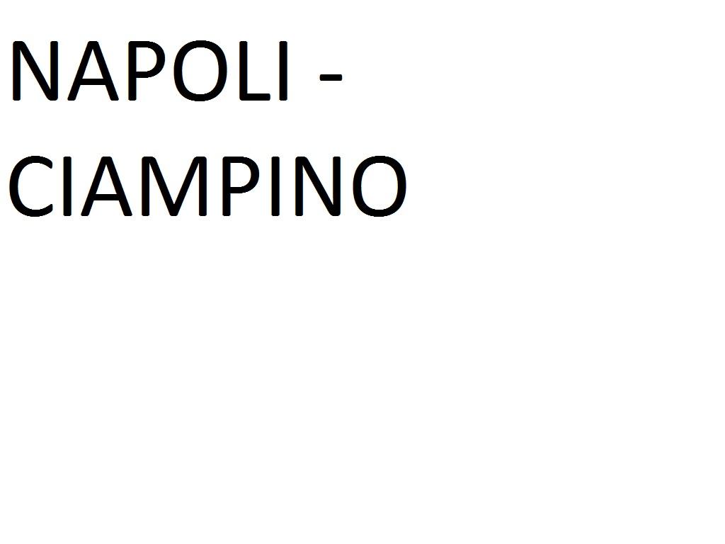 NAPOLI (Metropark Corso A. Lucci)  --> CIAMPINO AIRPORT