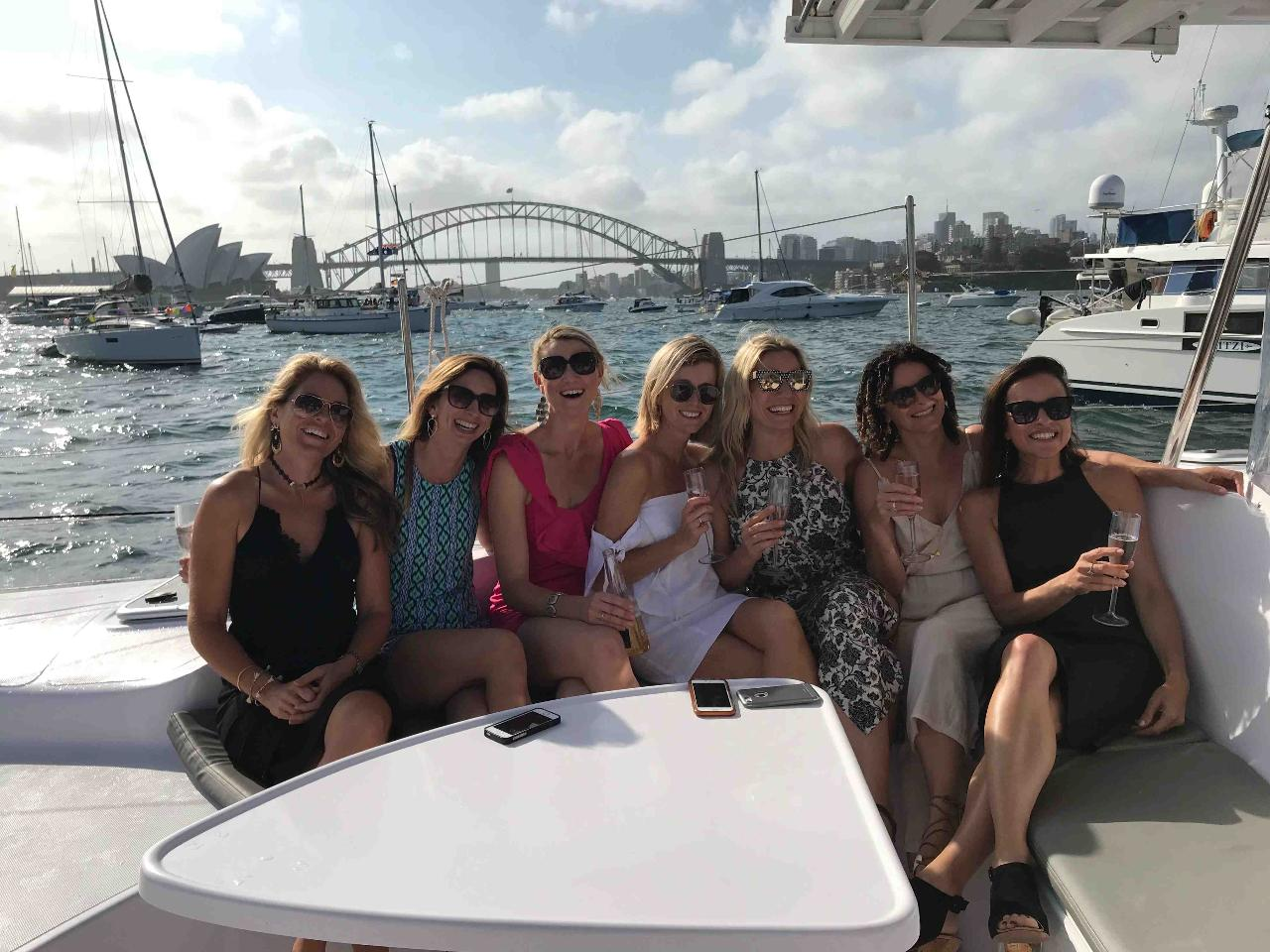 Hen's Party CHAMPAGNE SAILING Catamaran Package for up to 30 people