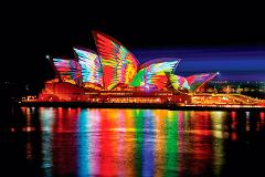 PRIVATE VIVID SYDNEY HARBOUR CRUISE ON ENIGMA X (UP TO 20 GUESTS)