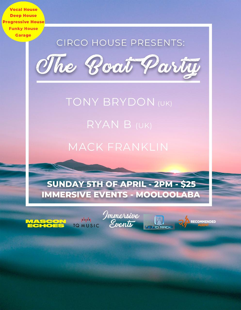The Boat Party by Circo House and Liquid Sessions