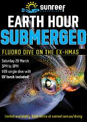 Earth Hour Night Ex-HMAS Brisbane Single Dive