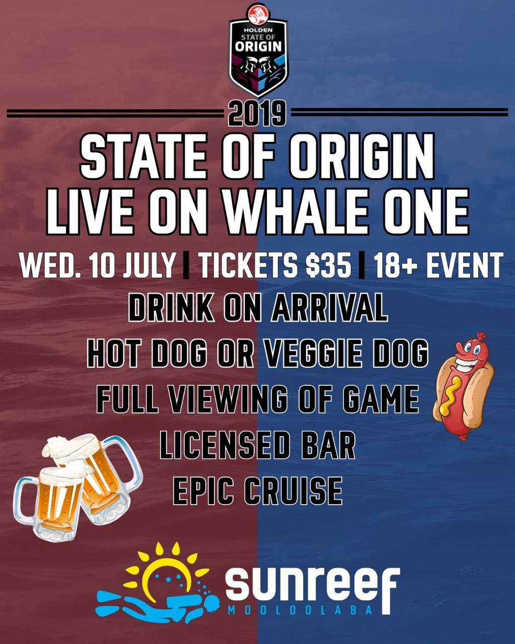 State of Origin on Whale One