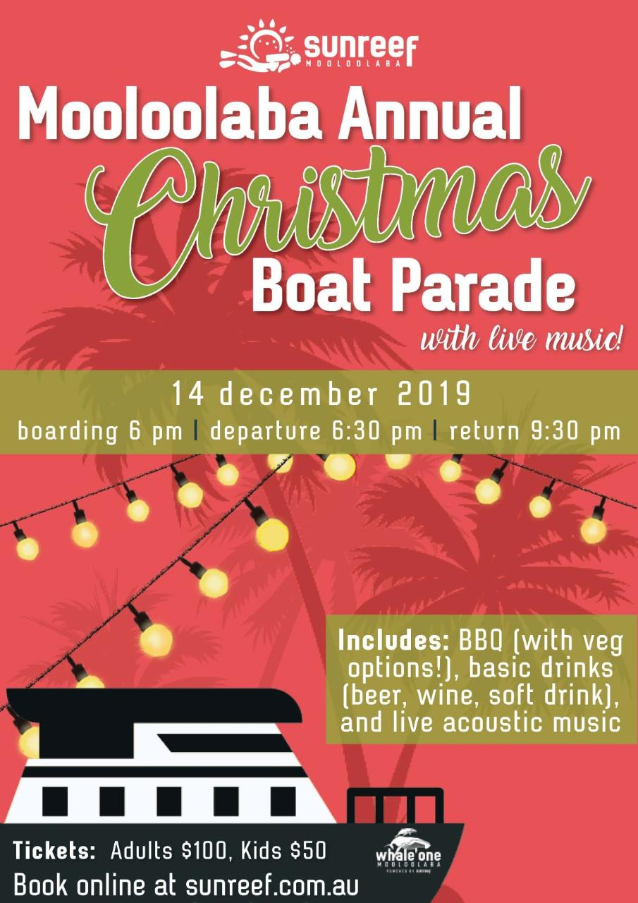 Christmas Boat Parade on Whale One