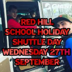 "School Holiday MTB Shuttle Day Inc Lunch ""RED HILL"" (FULL DAY EVENT) Wednesday 27th"