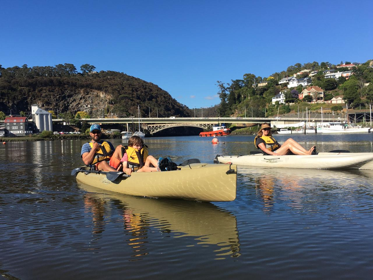 Hobie kayak fishing tour on the Tamar River