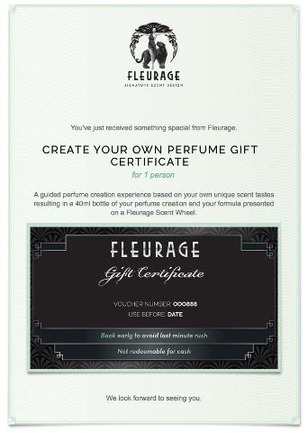 Create Your own Perfume Gift Certificate