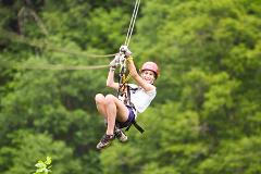 Zip Lining at Calico Jack's Village (Extreme Zip Line)