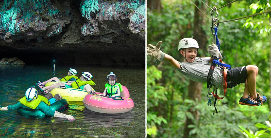 Cave Tubing & Calico Jack's Zip Lining (Explorer) Combo