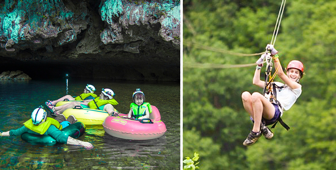 Cave Tubing & Calico Jack's Zip Lining (Extreme) Combo 7 - 9 pax