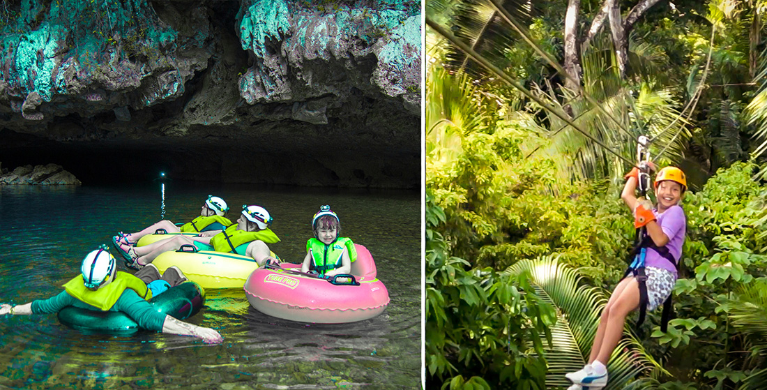 Cave Tubing & Zip Lining Combo (2 pax)