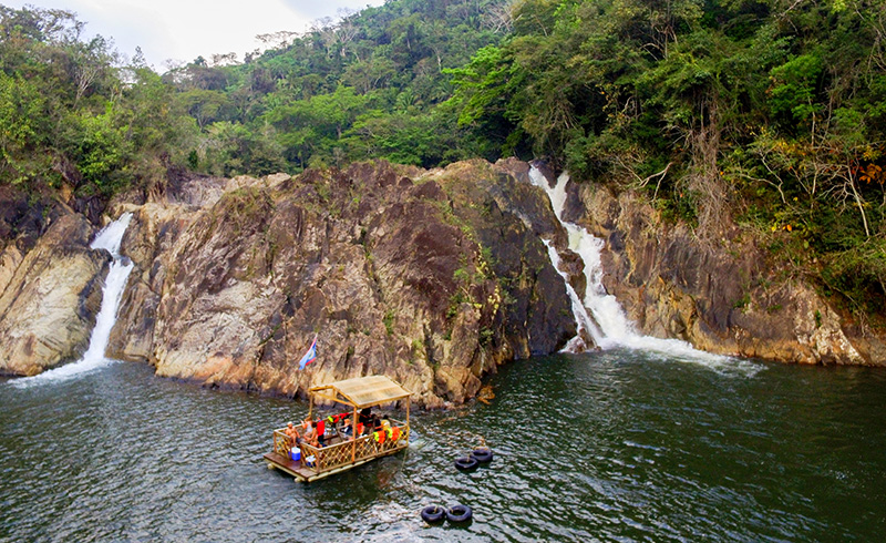 Jungle Pontoon Waterfall Adventure Tour (7 - 9 pax)