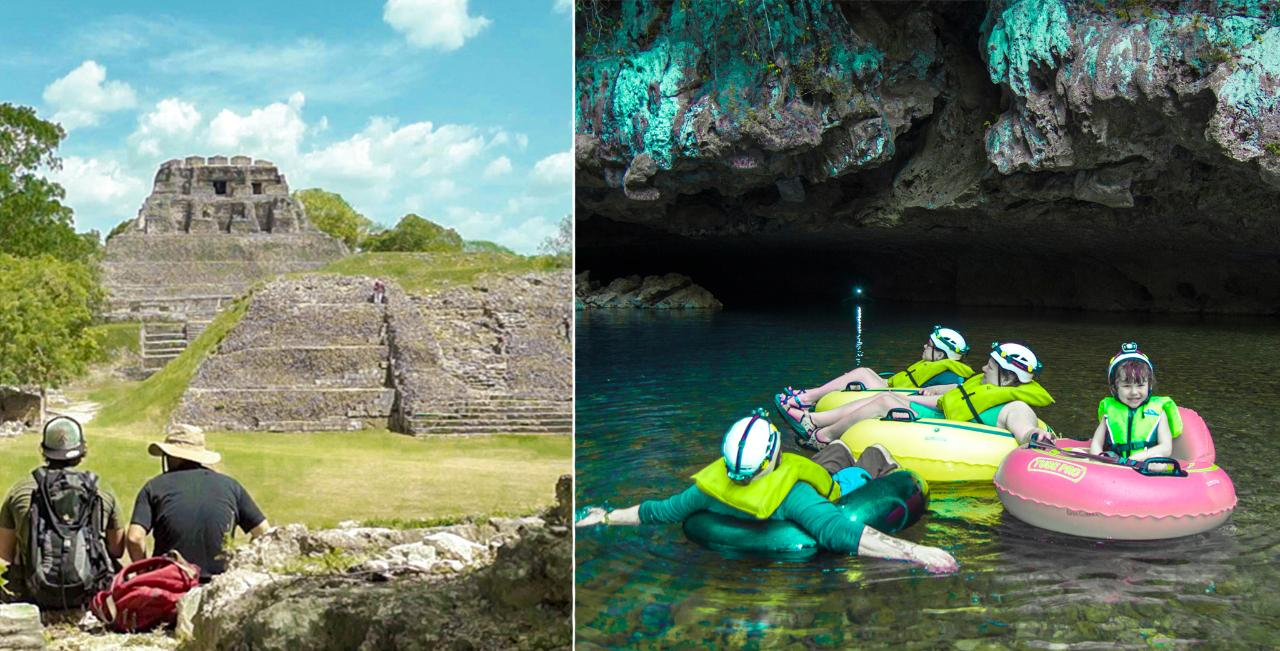 Xunantunich & Cave Tubing Combo (10 - 13 pax)