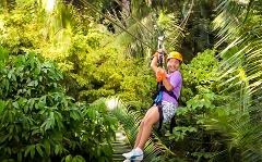 Zip Lining at Caves Branch Outpost (No Lunch - Half Day Tour) 2pax