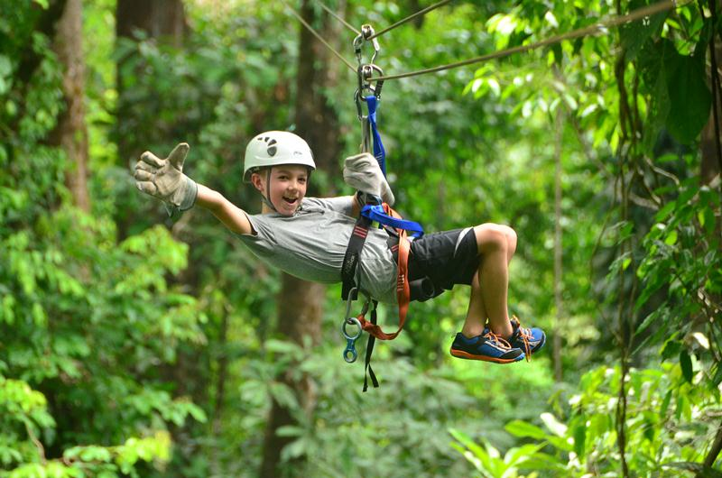 Zip Lining at Calico Jack's Village (Explorer Zip Line)