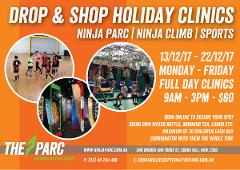 DROP and SHOP Ninja, Climb and Sports Holiday Clinic