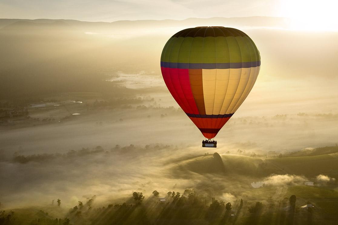 Yarra Valley Balloon, Wildlife, Wine & Food Day Tour