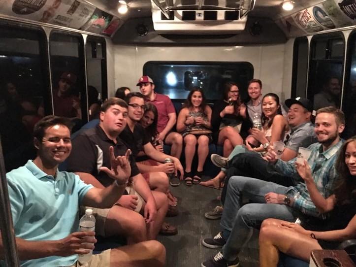 PARTY BUS RENTAL - 14 PASSENGER - $95 PER HOUR