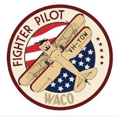 Waco YMF-5 Badge