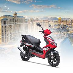 Explore Las Vegas on a 150cc Scooter All Day Rental