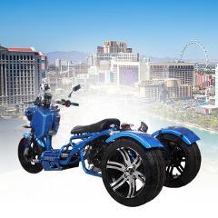 Cruise Las Vegas Blvd on a Maddog 150cc Trike All Day Rental