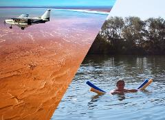 Dalhousie Springs, Simpson Desert & Lake Eyre Flight from Coober Pedy