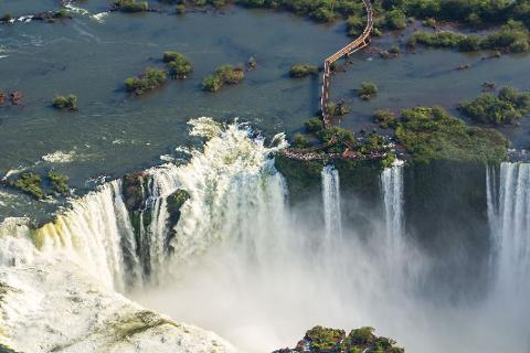 Iguassu - Brazilian Side of the Falls (From Argentina)