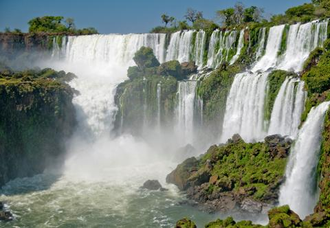 Iguassu - Argentinian Side of the Falls (From Brazil)